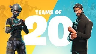 Teams of 20 Announce Trailer (Battle Royale)