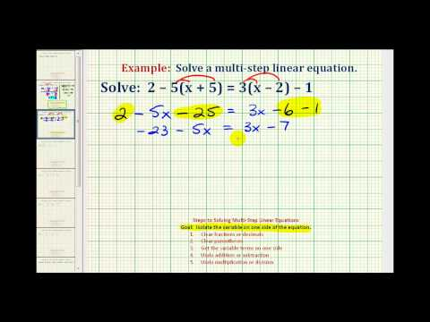 Ex:  Solve an Equation with Variables and Parentheses on Both Sides