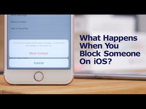 What happens when you block someone on your iPhone?
