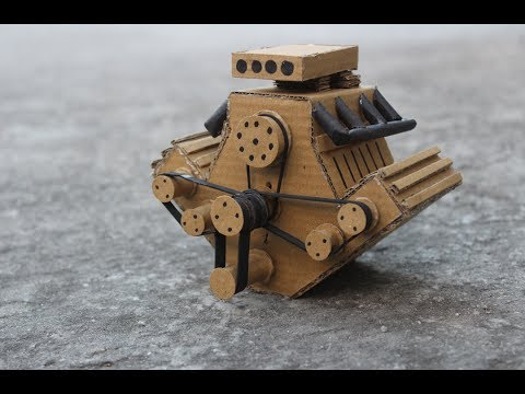 How to make powerful engine using cardboaard || electric motor || very simple || DIY