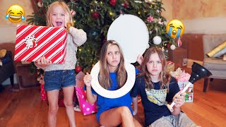 WE GAVE OUR KIDS TERRIBLY BAD CHRISTMAS PRESENTS!! **HILARIOUS REACTION**