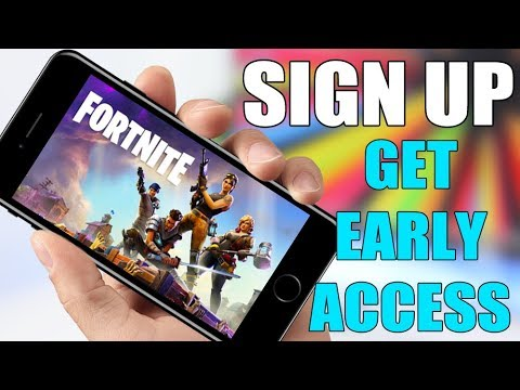 Fortnite Mobile Sign Up ** GET EARLY ACCESS **