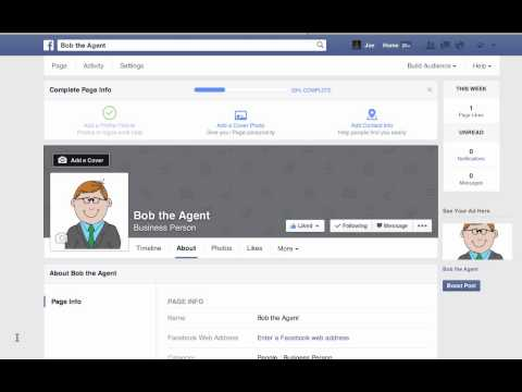 Starting a Facebook Business page as a Real Estate agent