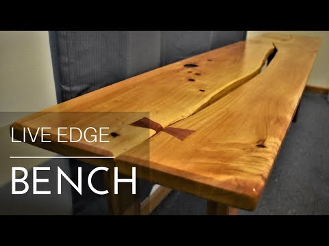 Live Edge Bench from Reclaimed Wood