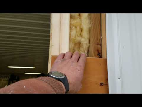 #2. Cutting in a garage door opening in a pole barn.