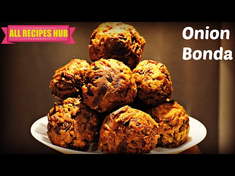 Onion bonda | Onion fritters | Best evening Snack recipe