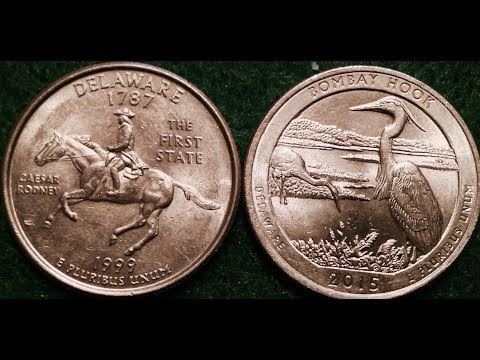 1999 and 2015 Delaware Quarters