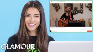 Madison Beer Watches Fan Covers On YouTube | You Sang My Song | Glamour