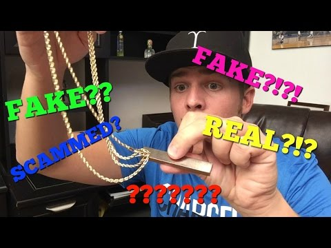 My GOLD chains are FAKE?!