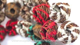 Sculptural basketry artist Catriona Pollard explains random weave