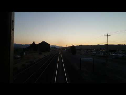 Sunset Landscape ~ Amtrak Empire Builder ~ Seattle, WA to Glacier National Park, MT