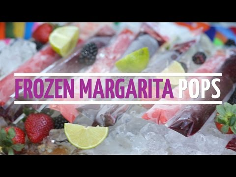 Frozen Margarita Pops