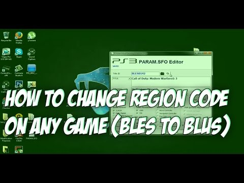 How to Change Your Region Code For Any Game (BLES TO BLUS) - Voice Tutorial
