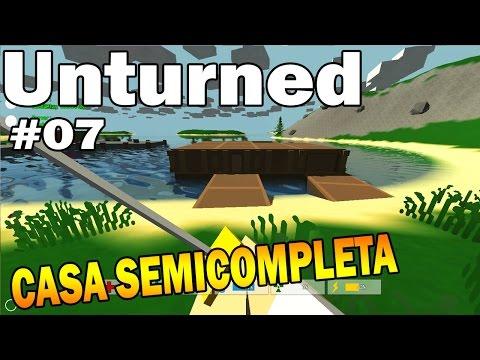 Unturned: CASA: FUNDAÇÃO, PAREDE, JANELA, TETO E GARAGEM - Ep. 7