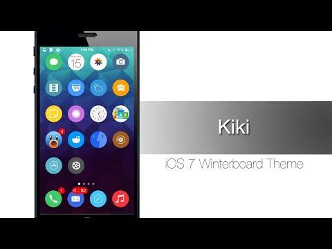 Kiki - iOS 7 Winterboard Theme: Hands-on - iPhone Hacks
