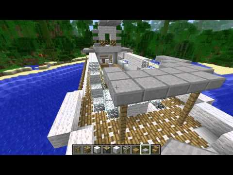 Working (driveable) floating yacht - FPS time lapse - Minecraft