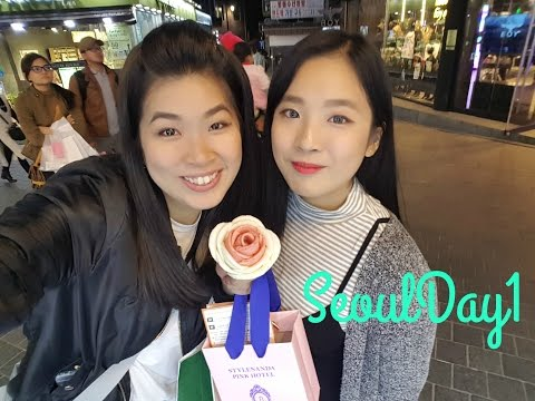 SEOUL VLOG : Day 1 ( Incheon Airport, Myeongdong)