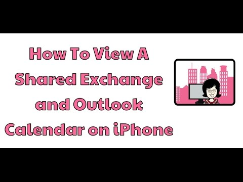 How to view A Shared Exchange and Outlook Calendar on iPhone