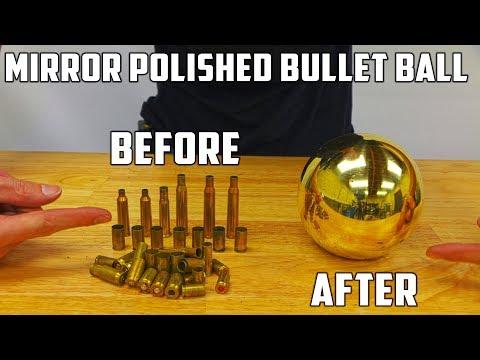 Casting Mirror Polished Brass Ball from Molten Brass (Japanese Aluminium Foil Ball Sequel)