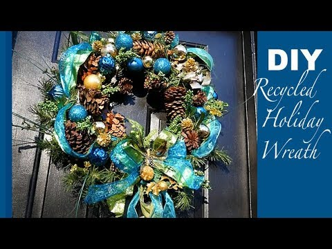 DIY | Recycled Holiday Wreath