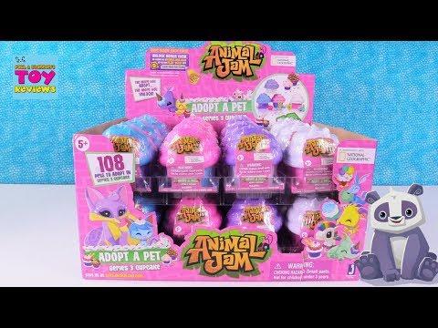 Animal Jam Series 3 Cupcake Surprise Adopt A Pet Toy Review Opening | PSToyReviews