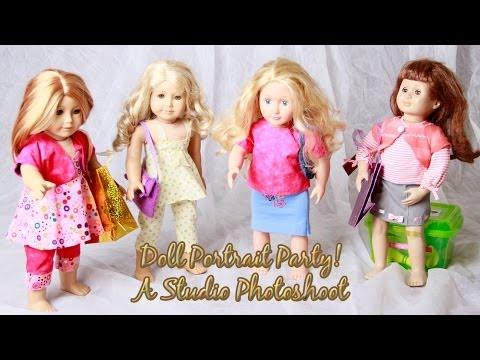 American Girl Doll Photoshoot - Studio Doll Portraits