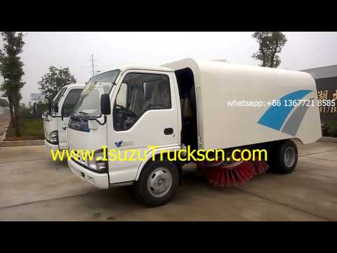 For cement plant Vacuum Dust Sweeper Isuzu road sweeper truck