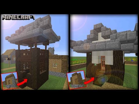 Minecraft - Transform A Village Hut & Small House! Japanese Style!