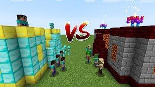 Minecraft Battle: CASTLE NOOB AND PRO VS EPIC MONSTER CASTLE