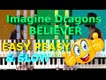 HOW TO PLAY - Imagine Dragons - Believer (EASY SLOW Piano Tutorial Lesson)