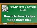 Selenium Tutorials | How to RUN Selenium Sctipts using batch file