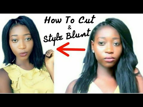How To Cut and Style Blunt Cut Crochet Braids