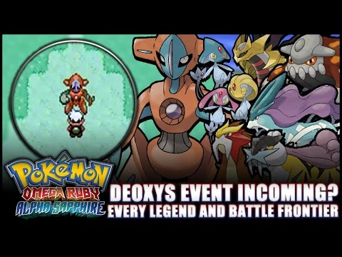 Pokémon Omega Ruby and Alpha Sapphire: News - Deoxys event? Every legend and Battle Facility!