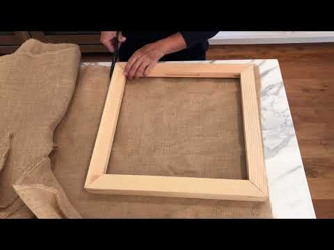Making a Needle Punch Frame From Canvas Stretcher Bars