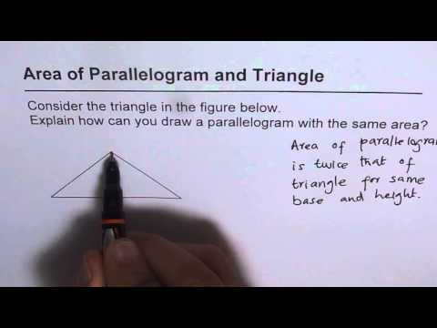 Draw Parallelogram with Same Area as Given Rectangle