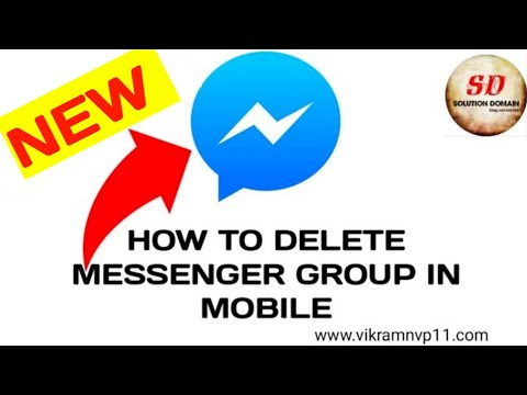 how to delete messenger group in mobile 2018 new☑️