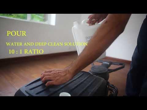 Deep Clean of Vinyl Floors using Bona Deep Clean System