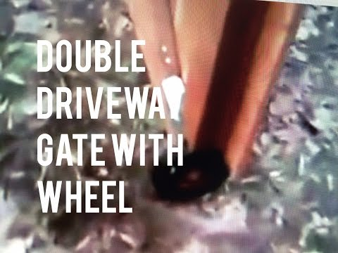 Double Gate Fence Installation Wheels, Wood Latch, How to Instruction