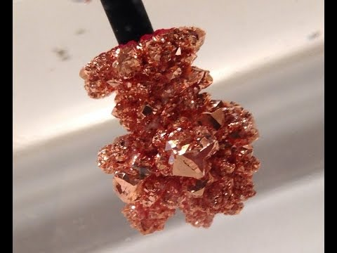 Grow Copper Metal Crystals with Electrochemistry!