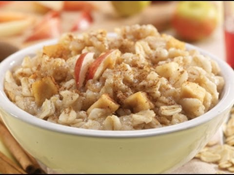 Apple cinnamon oatmeal - SUGARFREE - HEALTHY FOOD - How To QUICKRECIPES