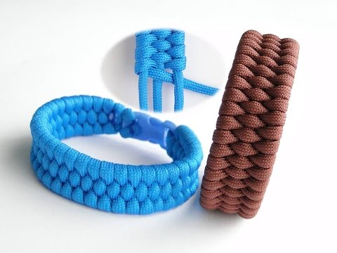How to Make the Easiest Trilobite Paracord Survival Bracelet- 3 Core/1 Working Strand