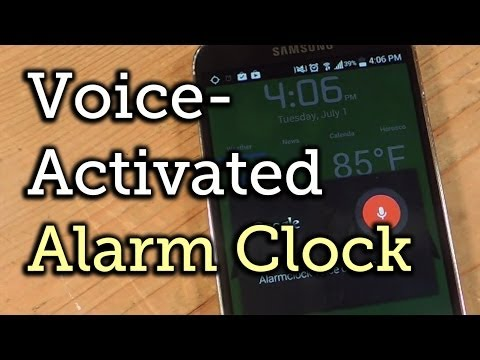 Sleep or Stop Your Alarm Using Custom Voice Commands - Android [How-To]