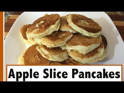 Apple Slice Pancakes   Easy breakfast