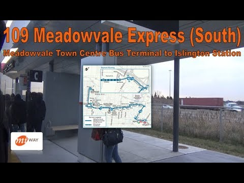 109 Meadowvale Exp. - MiWay 2017 New Flyer XD40 1712 (South) (Meadowvale Ctr to Islington Stn)