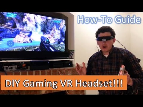 How To Make a VR Headset for Xbox One, Xbox 360, Playstation 4! DIY tutorial
