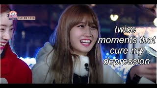 twice moments that cure my depression
