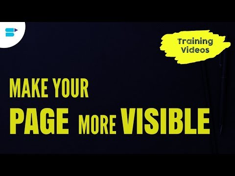How to Make Your Page More Visible