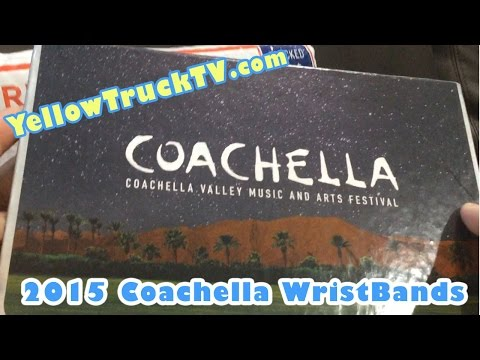 Coachella tickets unboxing 2015 live lineup with wristband car camping ear buds by FamilyToyReview