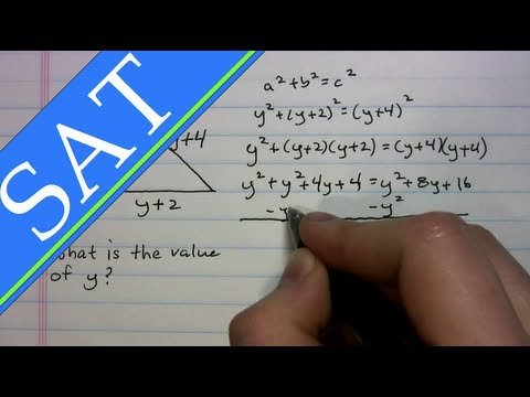 SAT - Triangles - Pythagorean Thm. and Triples