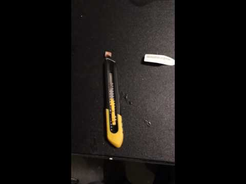 How to snap a snap blade made by Stanley